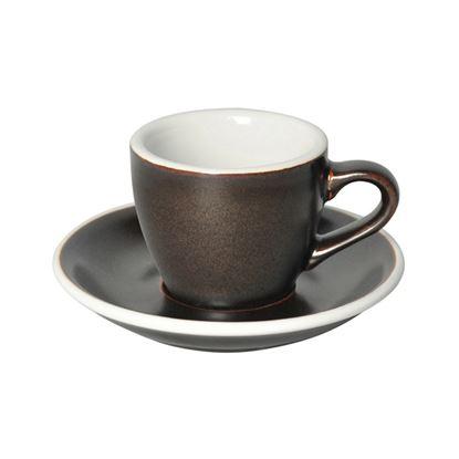 Loveramics Egg - Espresso 80ml Cup and Saucer - Gunpowder