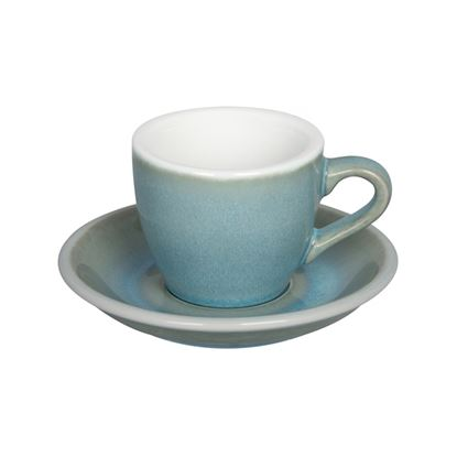 Loveramics Egg - Espresso 80ml Cup and Saucer - Ice Blue