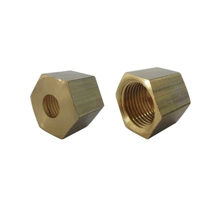 TAP JOINT BRASS NUT 3/8 HOLE 10MM