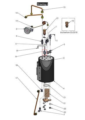 Anti-Vacuum Valve 1/4 M with drain