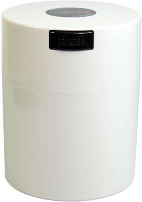 CoffeeVac 250gr - solid White cap, White body
